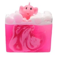 Bomb Cosmetics - Pink Elephants & Lemonade Soap Slice - Glycerine Soap