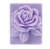 LaQ - Happy Soaps - Natural Glycerine Soap - VIOLET ROSE CUBE