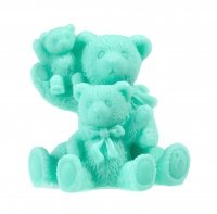 LaQ - Happy Soaps - Natural Glycerine Soap - GREEN FAMILY - THREE BEARS