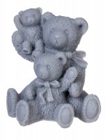 LaQ - Happy Soaps - Natural Glycerin Soap - GRAY FAMILY - THREE BEARS