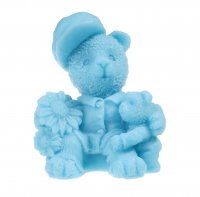 LaQ - Happy Soaps - Natural glycerin soap - TWO BLUE TEDDY BEARS
