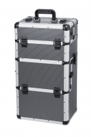 Gray MAKE-UP BOX - Gray Strip - TC009