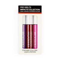 FREEDOM - PRO MELTS - IMPACTS COLLECTION - Long Lasting & Intense Colour - 3 Lip Glosses