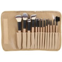 LancrOne - SUNSHADE MINERALS - Set of 13 make-up brushes + natural flax case - 13/3
