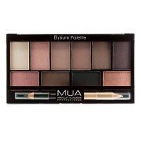 MUA - Eyeshadow Palette - Elysium Palette - Palette of 10 eye shadows + double eye crayon