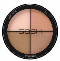 GOSH - CONTOUR'N STROBE KIT - 4 in 1 palette