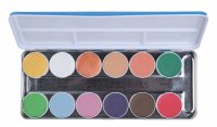 KRYOLAN - AQUACOLOR - INTERFERENZ - Palette of 12 water paints for face and body - ART. 1144