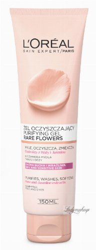 L'Oréal - Rare Flowers Purifying Gel - Dry and sensitive skin gel with rose and jasmine extracts