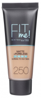 MAYBELLINE - FIT ME! Liquid Foundation For Normal To Oily Skin - 250 SUN BEIGE - 250 SUN BEIGE