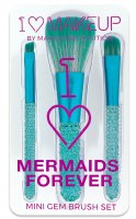 I ♡ Makeup - I ♡ Mermaids Forever - MINI GEM BRUSH SET - Set of 3 make-up brushes