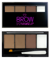 I ♡ Makeup - BROWS KIT - 3 Eyebrow Powder + Wax