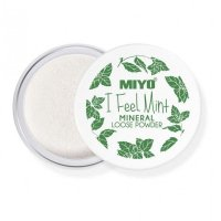 MIYO - I Feel Mint - MINERAL LOOSE POWDER - Mineral powder with mint, bamboo and aloe extract