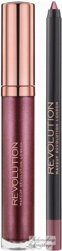MAKEUP REVOLUTION - RETRO LUXE - METALLIC LIP KIT - Lip Pencil & Liquid Lipstick