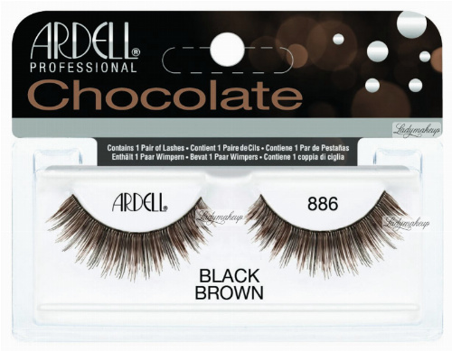 ARDELL - Chocolate Lashes - Black-brown lashes on strip