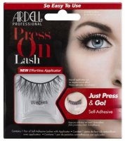 ARDELL - Press On Lashes - False eyelashes with applicator strip and adhesive - WISPIES - WISPIES