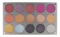 Glazel - Palette of 15 metallic eyeshadows