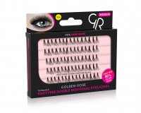 Golden Rose - KNOT-FREE DOUBLE INDIVIDUAL EYELASHES - MEDIUM - K-FRE-M
