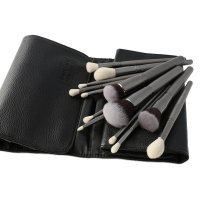 LancrOne - SUNSHADE MINERALS - Set of 25 silver make-up brushes + case