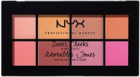 NYX Professional Makeup - Sweet Cheeks Blush Palette - 8 blushers