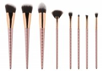 LOVETO.PL - Set of 8 make-up brushes without case - Rose Gold