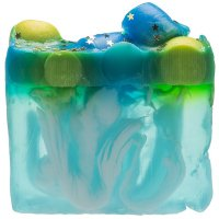Bomb Cosmetics - Handmade Soap with Essential Oils - Planet Peppermint - Glycerine Soap