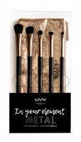 NYX Professional Makeup - MAKEUP BRUSH SET - In your element - METAL