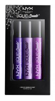NYX Professional Makeup - LIQUID SUEDE SET 07 - Set of 3 matte, waterproof lipsticks