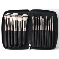 LancrOne - SUNSHADE MINERALS Make-Up Studio Professional - Set of 15 Makeup Brushes in a Case