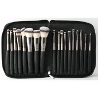 LancrOne - SUNSHADE MINERALS Make-Up Studio Professional - Set of 18 Makeup Brushes in a Case