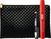 PUPA - Eye Makeup Kit - Ultraflex Mascara Extra Black + Multiplay Crayon + Black Makeup Bag