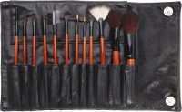 Delfa - Set of 12 make-up brushes + Case