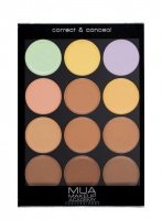MUA - Correct & Conceal Palette - Professional contouring palette - WARM PALETTE - WARM PALETTE