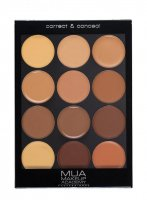 MUA - Correct & Conceal Palette - Professional contouring palette - DARK PALETTE - DARK PALETTE