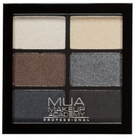 MUA - 6 Shade Palette - Smokey Shadows - Palette of 6 eyeshadows