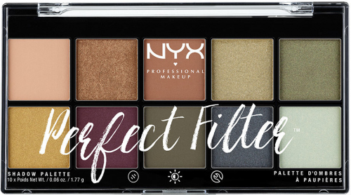 NYX Professional Makeup - Perfect Filter Eye Shadow Palette - Olive You - Palette of 10 eyeshadows