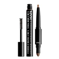 NYX Professional Makeup - SOURCILS 3IN1 BROW - 3in1 eyebrow makeup - 31BO3 - SOFT BROWN - 31BO3 - SOFT BROWN