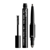 NYX Professional Makeup - SOURCILS 3IN1 BROW - 3in1 eyebrow makeup - 31B09 - CHARCOAL - 31B09 - CHARCOAL