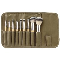 LancrOne - SUNSHADE MINERALS - Set of 9 Makeup Brushes + Case - SM91
