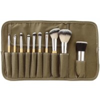 LancrOne - SUNSHADE MINERALS - Set of 10 makeup brushes + case - SM101