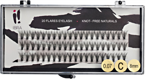 Ibra - DOUBLE FLARES EYELASH - KNOT-FREE NATURALS - Eyelash tufts with double volume