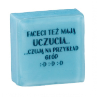LaQ - Happy Soaps - Short Message Soap - BOYS HAVE FEELINGS TOO