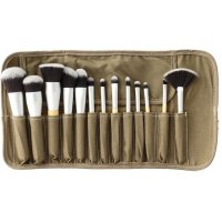 LancrOne - SUNSHADE MINERALS - Set of 13 Makeup Brushes + Case - SM1318