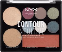 NYX Professional Makeup - CONTOUR INTUITIVE - EYE AND FACE SCULPTING PALETTE - PLUM METALS