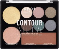 NYX Professional Makeup - CONTOUR INTUITIVE - EYE AND FACE SCULPTING PALETTE - SMOKE & PEARLS