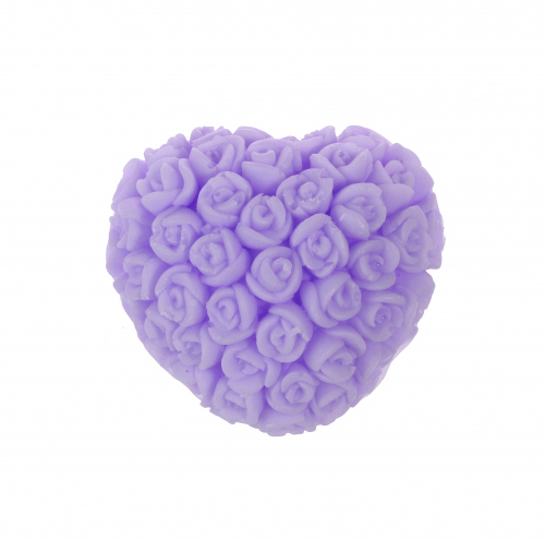 LaQ - Happy Soaps - Natural Glycerine Soap - PURPLE ROSE HEART