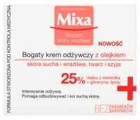 MIXA - Nourishing Cream with Evening Primrose Oil for Dry and Sensitive Skin