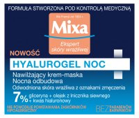 Mixa - HYALUROGEL NIGHT - Moisturizing Sleeping Pack for Sensitive Skin