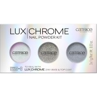 Catrice - LUX CHROME - NAIL POWDER KIT - 3 powders