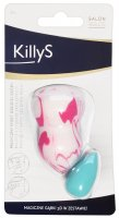 KillyS - MAGIC SPONGE 3D - White-Pink Pear and Mini Blue Egg