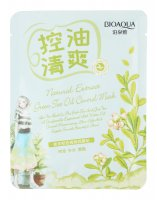 BIOAQUA - Natural Extract Green Tea Oil Control Mask